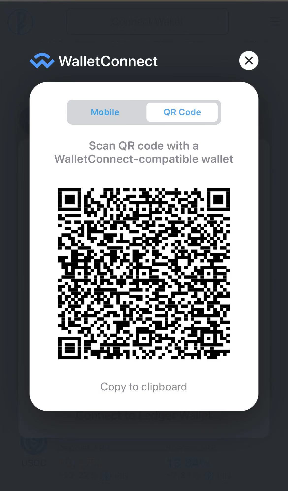 IOS Screen Shot -WalletConnect
