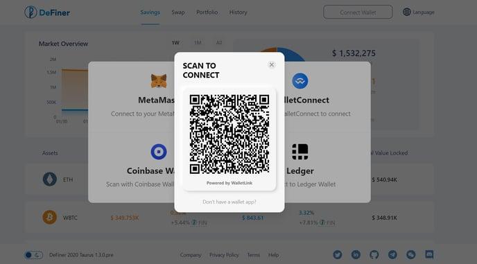 Web WalletConnection Coinbase